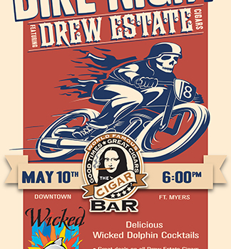 "The ""World Famous"" Cigar Bar – Bike Night Poster Design"
