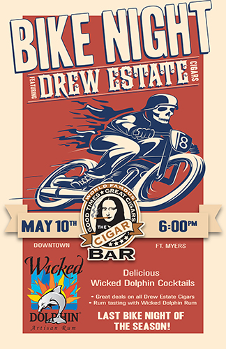 "The ""World Famous"" Cigar Bar - Bike Night May 10th, 2104"