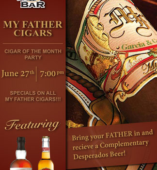 "The ""World Famous"" Cigar Bar – Father's Day Promo"