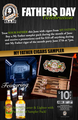 Fathers Day 2014 with the World Famous Cigar Bar
