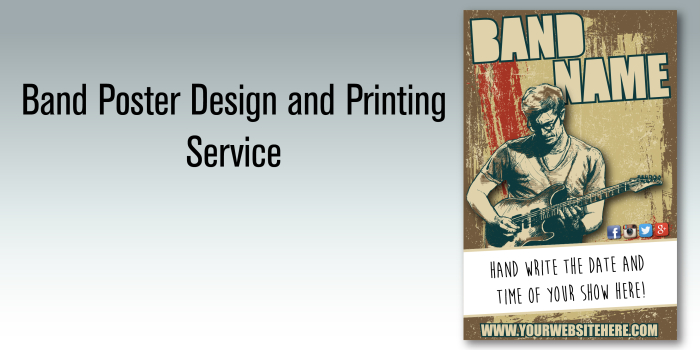 Band Poster Design and Printing Service