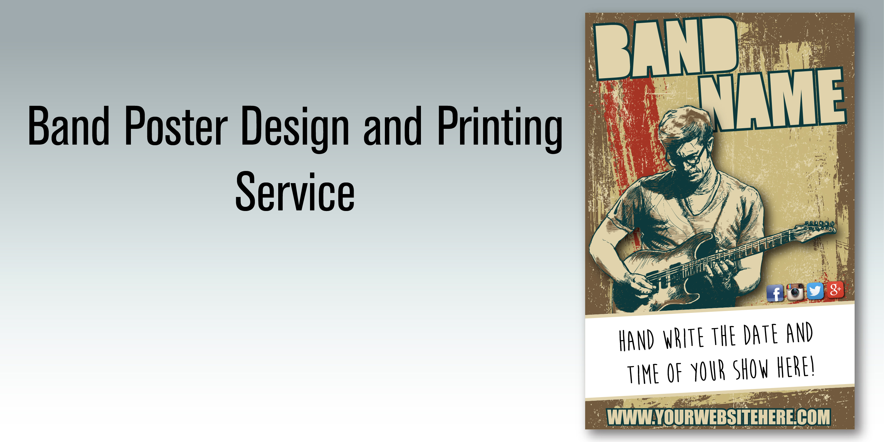 Poster design and printing - Band Poster Design And Printing Service