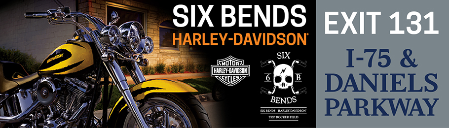 Billboard Design for six bends harley davidson