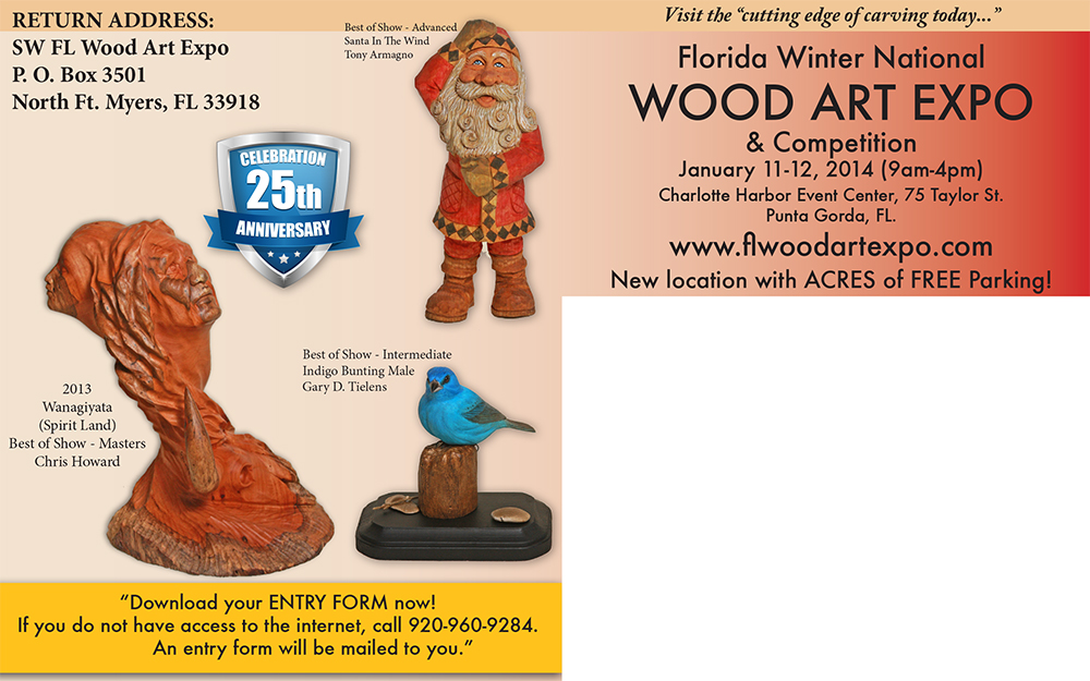Woodcarvers Direct Mailer Front