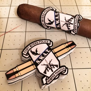 FMPD SWAT Team Custom Die Cut Cigar Band